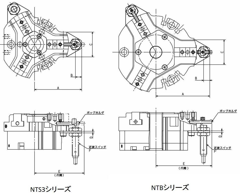 近接スイッチブラケット NTS3・NTB用